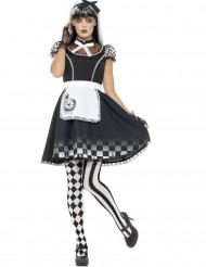 Costume miss delle meraviglie gotica per donna