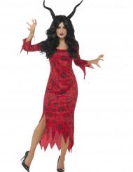 Costume diavolo occulto per donna halloween