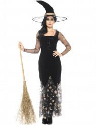 Costume da strega luna e stelle per donna halloween
