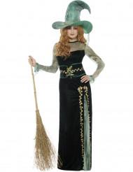 Costume da strega smeraldo per donna halloween
