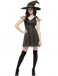 Costume strega delle stelle dorate donna halloween