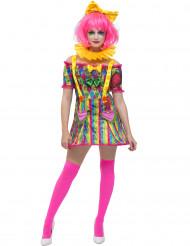 Costume da pagliaccio patchwork per donna