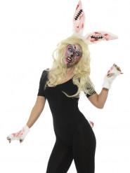 Kit coniglio zombie per donna Halloween