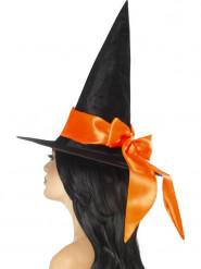 Cappello nero con nodo arancione per donna Halloween