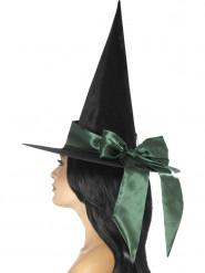 Cappello nero con fiocco verde per donna Halloween