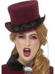 Cappello vittoriano da vampiro per donna halloween