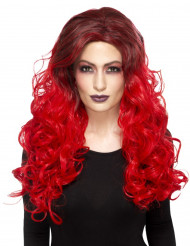 Parrucca rossa ondulata termoresistente per donna