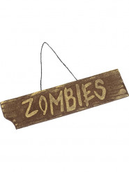 Decorazione per halloween cartello Zombies