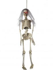 Decorazione per halloween sposa scheletro animata 170 cm