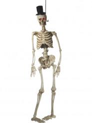 Decorazione per halloween sposo scheletro animato deluxe 170 cm