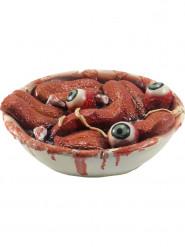 Decorazione per halloween insalatiera con lingua ed occhi