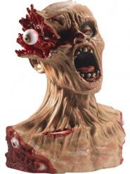 Busto di zombie con occhio esploso 40 cm halloween
