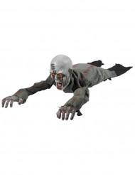 Decorazione animata zombie che striscia 110 cm Halloween