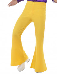 Pantaloni disco gialli per uomo