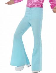 Pantaloni disco celesti per uomo