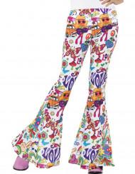 Pantaloni hippie anni '60 per donna