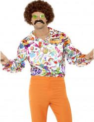 Camicia satinata Hippie per uomo