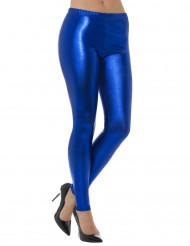 Legging metallizzato blu per adulto