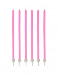 16 candele sottile rosa