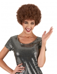 Parrucca afro/clown marrone confort per adulti
