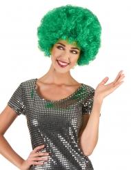 Parrucca afro/clown verde acceso confort per adulti