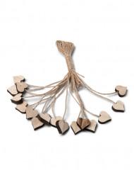 16 cuori di legno