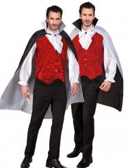 Mantello reversibile da uomo bianco e nero Halloween