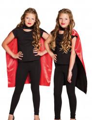 Mantello nero e rosso bambina halloween