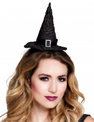 Mini cappello nero da strega per donna halloween
