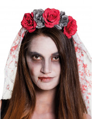 Cerchietto da sposa per donna dia de los muertos