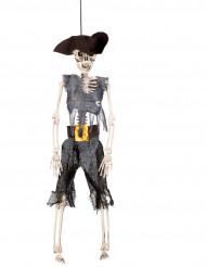 Decorazione a sospensione scheletro pirata 40 cm