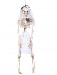 Decorazione scheletro con vestito da sposa halloween