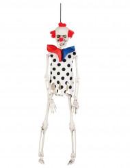 Decorazione a sospensione clown scheletro 40 cm halloween