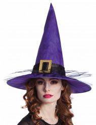 Cappello da strega viola adulto halloween