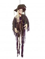 Decorazione animata e sonora strega 170 cm halloween