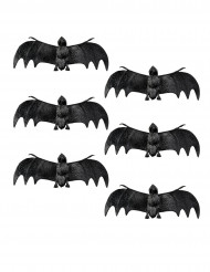 6 Pipistrelli decorativi 12 cm halloween