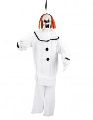 Decorazione a sospensione clown malefico 90 cm halloween