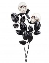 Rosa con teschi 45 cm halloween