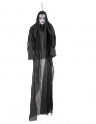 Decorazione luminosa e sonora donna spettrale 150 cm Halloween