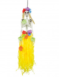 Decorazione scheletro hawaiano 90 cm halloween