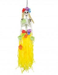 Decorazione scheletro hawaiano 90 cm halloween
