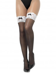 Calze autoreggenti nere soubrette sexy donna