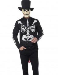 Costume da scheletro chic per uomo dia de los muertos
