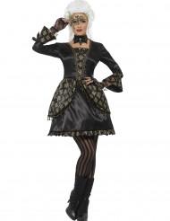Costume barocco nero e oro per donna