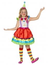 Costume da pagliaccio con gonnellina per bambina