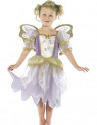 Costume da fatina viole e dorata per bambina