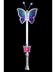 Bacchetta magica luminosa con farfalla