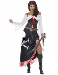 Costume da piratessa sexy con teschio per donna
