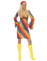 Costume hippie arcobaleno donna