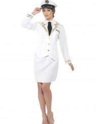 Costume bianco da ufficiale per donna